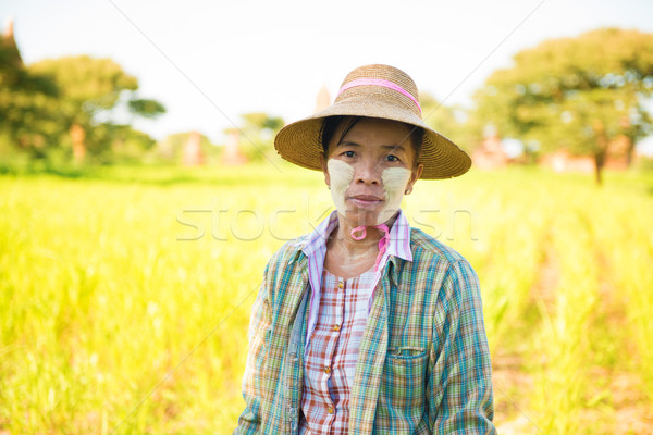 Mature Burmese farmer Stock photo © szefei