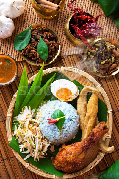 Malay food nasi kerabu Stock photo © szefei