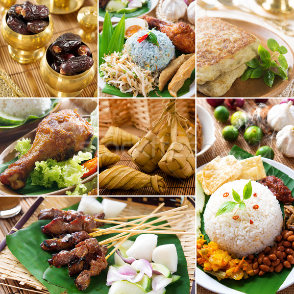 Collage delicious ramadan food Stock photo © szefei