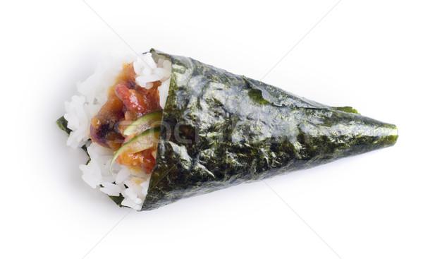 Hand roll temaki sushi Stock photo © szefei