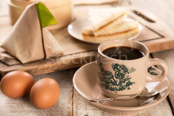 Tradycyjny chińczyk kawy smaczny śniadanie stylu Zdjęcia stock © szefei