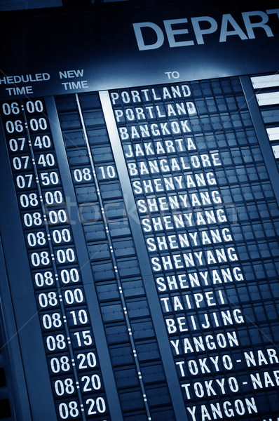Timetable in airport Stock photo © szefei