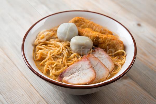 咖哩 亞洲美食 辣 菜 商業照片 © szefei