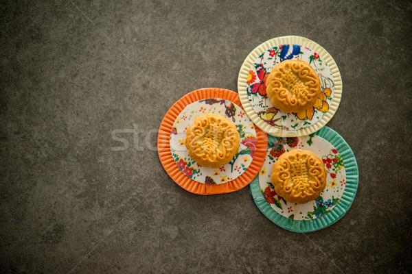 Mooncakes on Mid-Autumn lanterns Stock photo © szefei