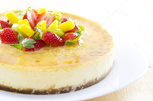 Passion fruit cheese cake Stock photo © szefei