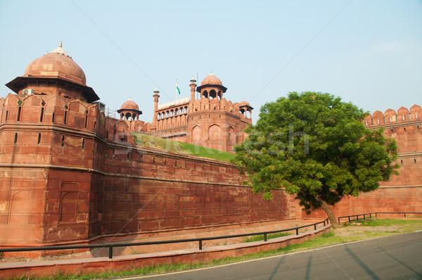 Rosso fort India Delhi cittadella costruzione Foto d'archivio © szefei