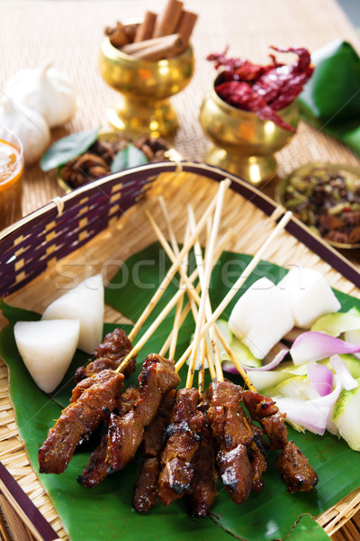 Satay Malay food Stock photo © szefei