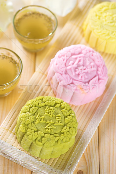 Snowy skin mooncakes Stock photo © szefei