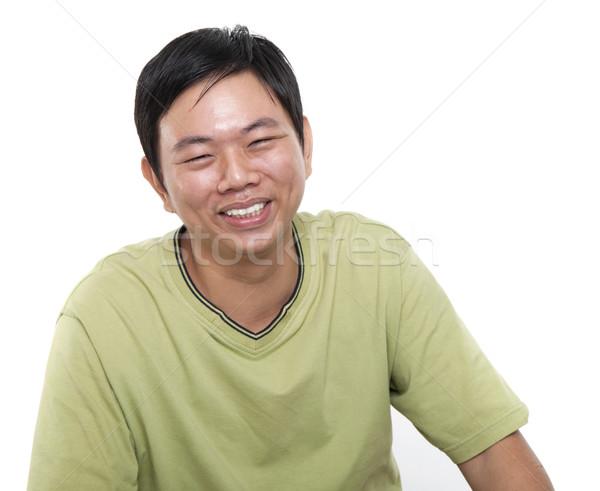 アジア 男性 笑い 肖像 40年代 ストックフォト © szefei