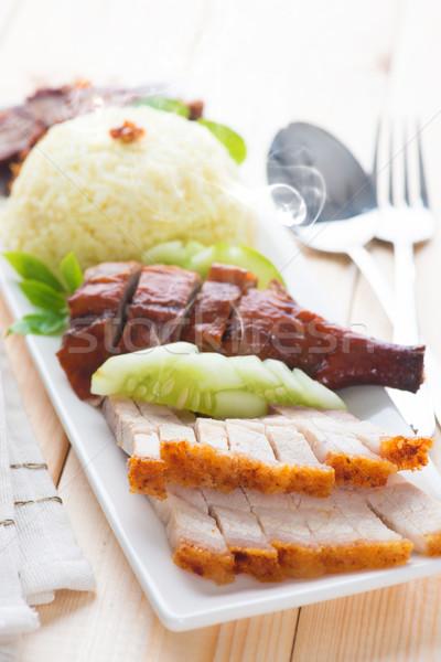 Delicious Chinese roasted pork  Stock photo © szefei
