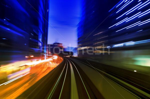 Urban night traffics Stock photo © szefei