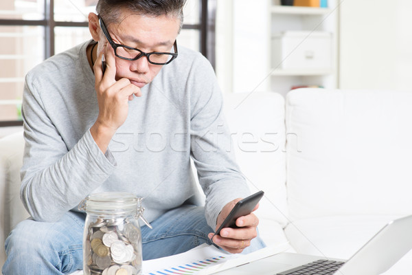 Retirement financial planning Stock photo © szefei