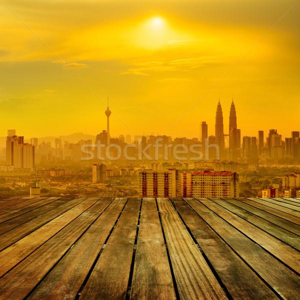Kuala Lumpur şehir sıcak gün görmek Stok fotoğraf © szefei