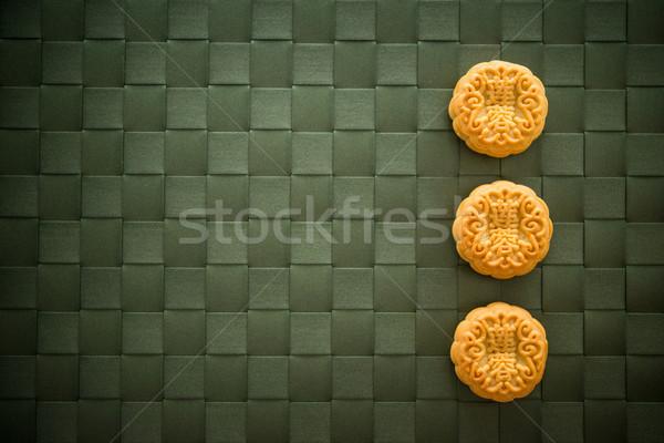 Moon cakes eaten on Mid-Autumn Festival  Stock photo © szefei