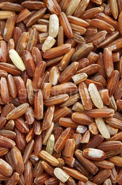 Stockfoto: Rood · rijst · product · textuur · frame