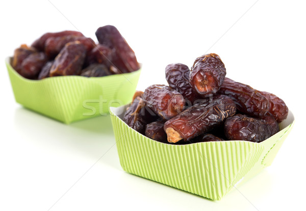 Ramadán étel datolya aszalt randevú pálma Stock fotó © szefei