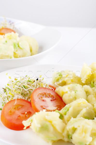 新鮮な ベジタリアン ポテトサラダ 野菜 プレート ストックフォト © szefei