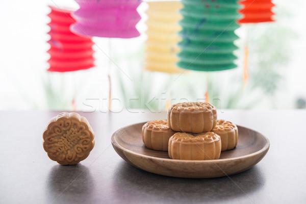 祭り 提灯 月 ケーキ 伝統的に ストックフォト © szefei