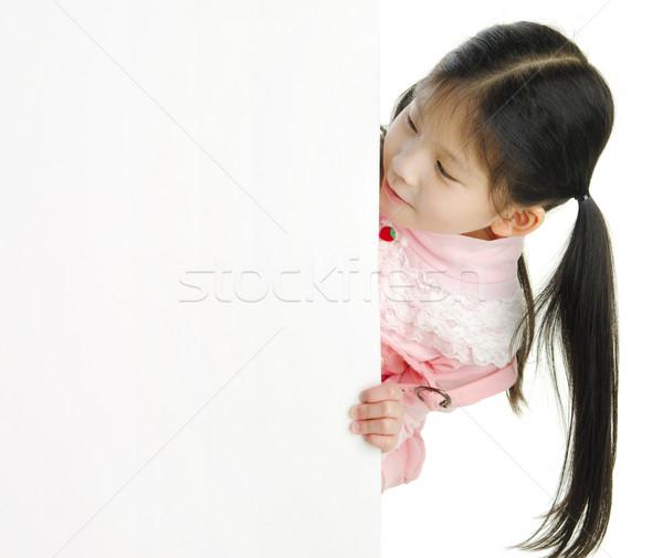 Zdjęcia stock: Mały · pan · asian · dziewczyna · patrząc