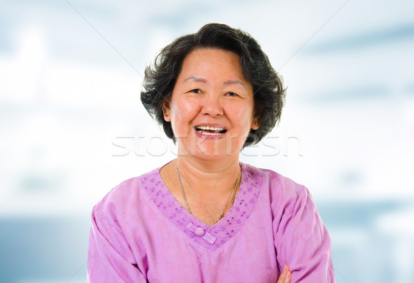 Asian senior woman Stock photo © szefei