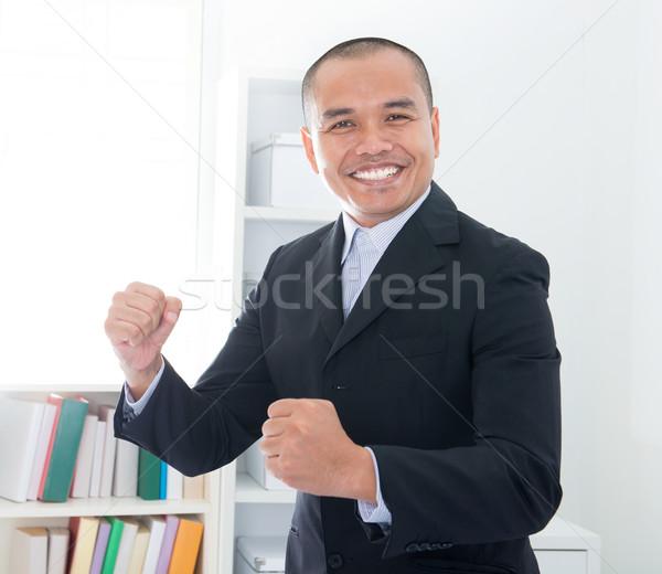 Alegre sudeste asiático empresário sorridente escritório Foto stock © szefei