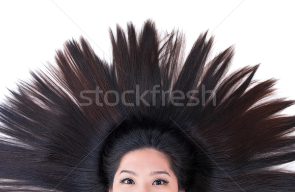 Scatter hair Stock photo © szefei