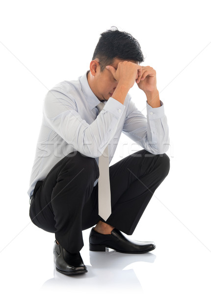 Fatigue despair tired businessman  Stock photo © szefei