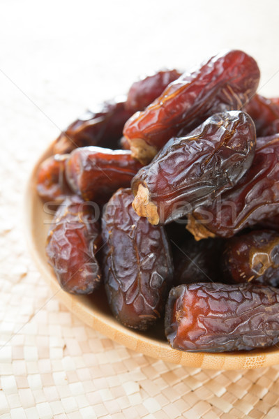 Dried dates fruit. Stock photo © szefei
