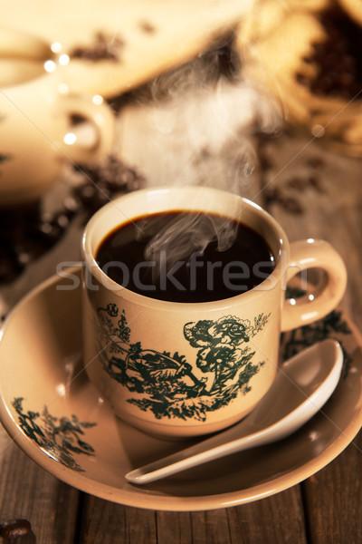 Traditional style Nanyang coffee in vintage mug Stock photo © szefei