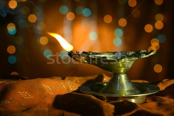 Diwali oil lamp  Stock photo © szefei