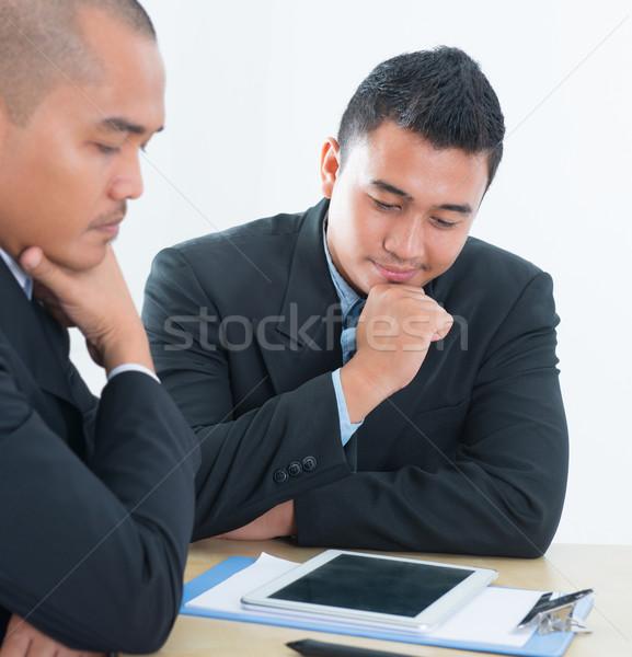 Sudeste asiático pessoas de negócios discussão discutir sessão Foto stock © szefei