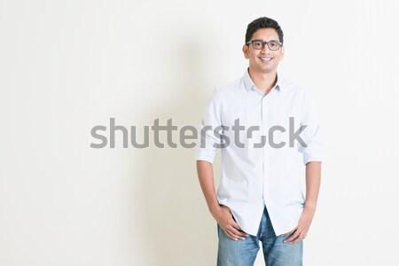 Casuale business indian uomo ritratto bello Foto d'archivio © szefei