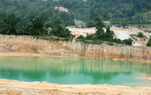 Ásia areia sul água construção fábrica Foto stock © szefei