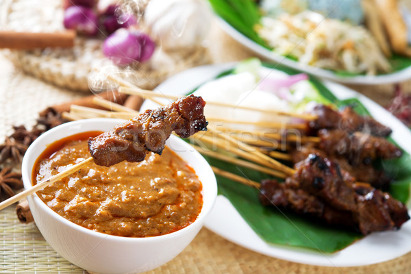 Satay or sate Stock photo © szefei