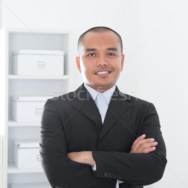 Asian Muslim business man Stock photo © szefei