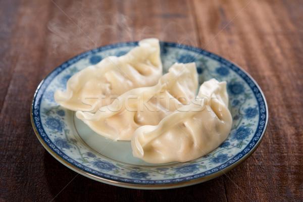 Chinese dish steamed dumplings Stock photo © szefei