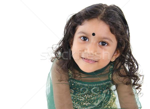 Little Indian girl Stock photo © szefei