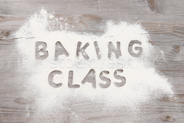 Baking classes poster design Stock photo © szefei