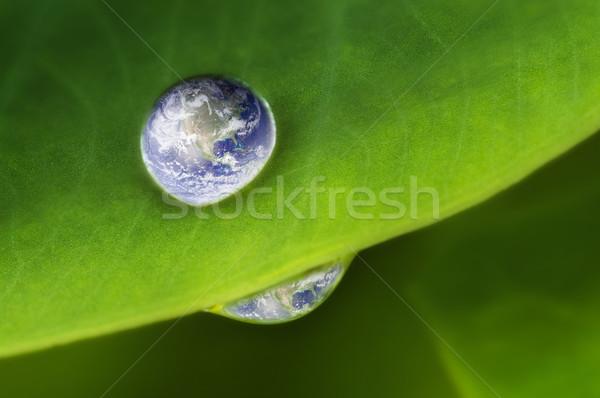 Planet earth waterdrop Stock photo © szefei