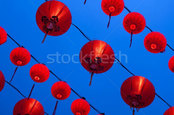 Red lanterns Stock photo © szefei