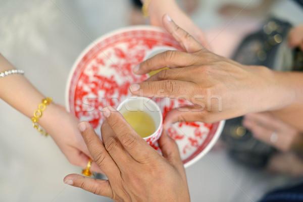 Chinese wedding tea ceremony Stock photo © szefei