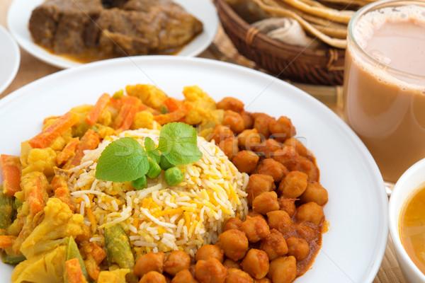 Indian riso cucina indiana montone strigliare Foto d'archivio © szefei