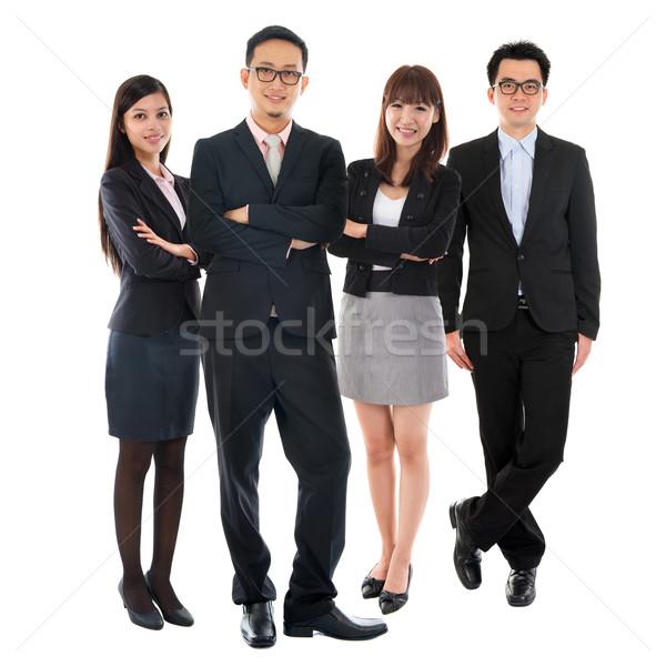 ázsiai többnemzetiségű üzletemberek portrék derűs áll Stock fotó © szefei