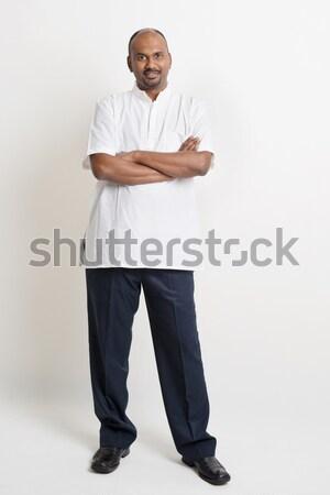 Casual maduro indiano homem de negócios pessoas de negócios Foto stock © szefei