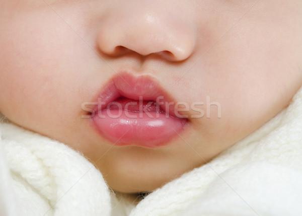 Baby usta różowe usta snem chłopca Zdjęcia stock © szefei