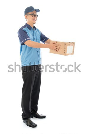 Asian delivery man Stock photo © szefei