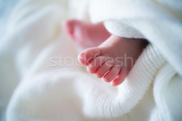 ребенка ног крошечный прелестный голый Сток-фото © szefei