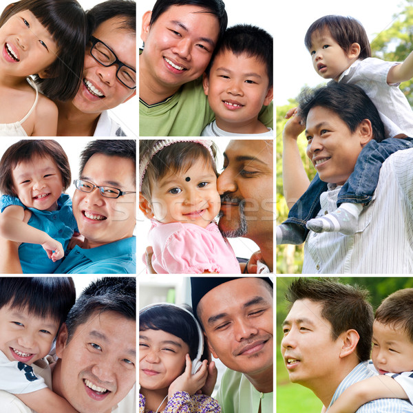 Stock photo: Collage photo father day concept.