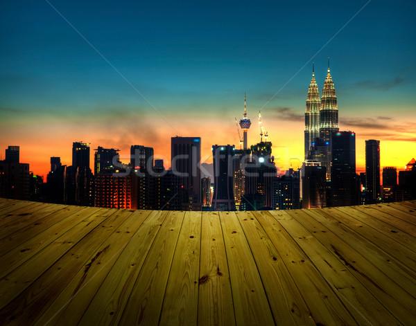 Kuala Lumpur görmek balkon şehir Malezya iş Stok fotoğraf © szefei