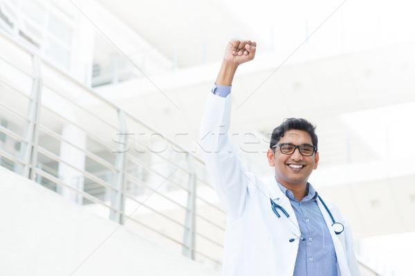 Asya Hint erkek tıbbi doktor Stok fotoğraf © szefei